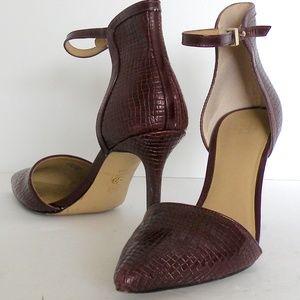 Ann Taylor Pumps Burgundy pointy toe sz 8.5